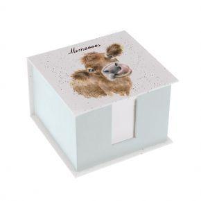 Wrendale Memo Block- Cow