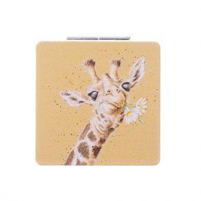 Wrendale Compact Mirror- Giraffe