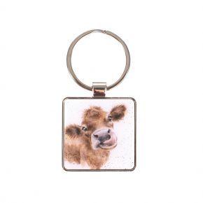 Wrendale Keyring- Cow