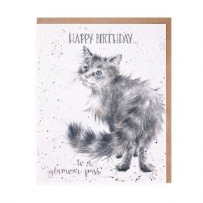 Wrendale Birthday Card-  Glamour Puss
