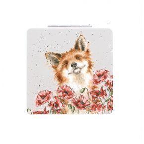 Wrendale Compact Mirror- Fox