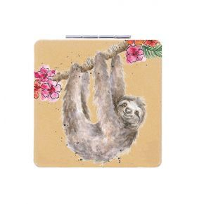 Wrendale Compact Mirror- Sloth