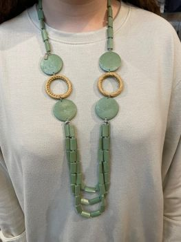 Envy Green Long Necklace