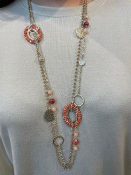 Envy Coral Long Necklace