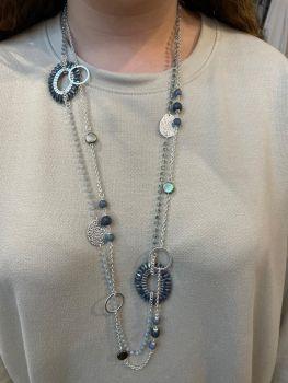 Envy Blue Long Necklace