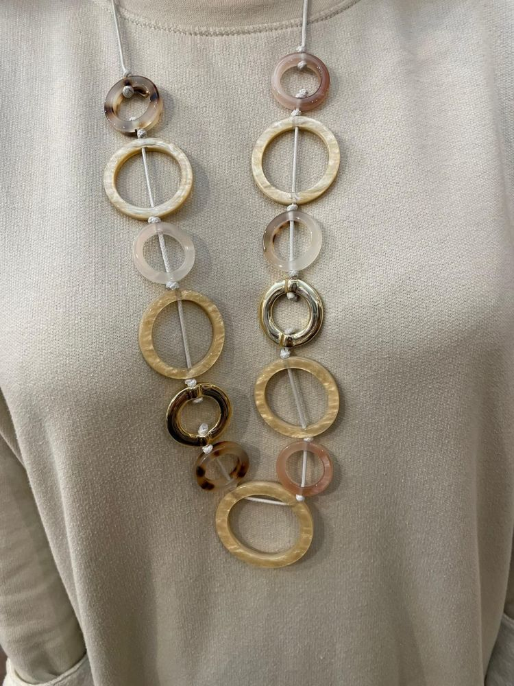 Envy Circles Long Necklace