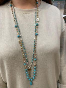 Envy Aqua Long Necklace