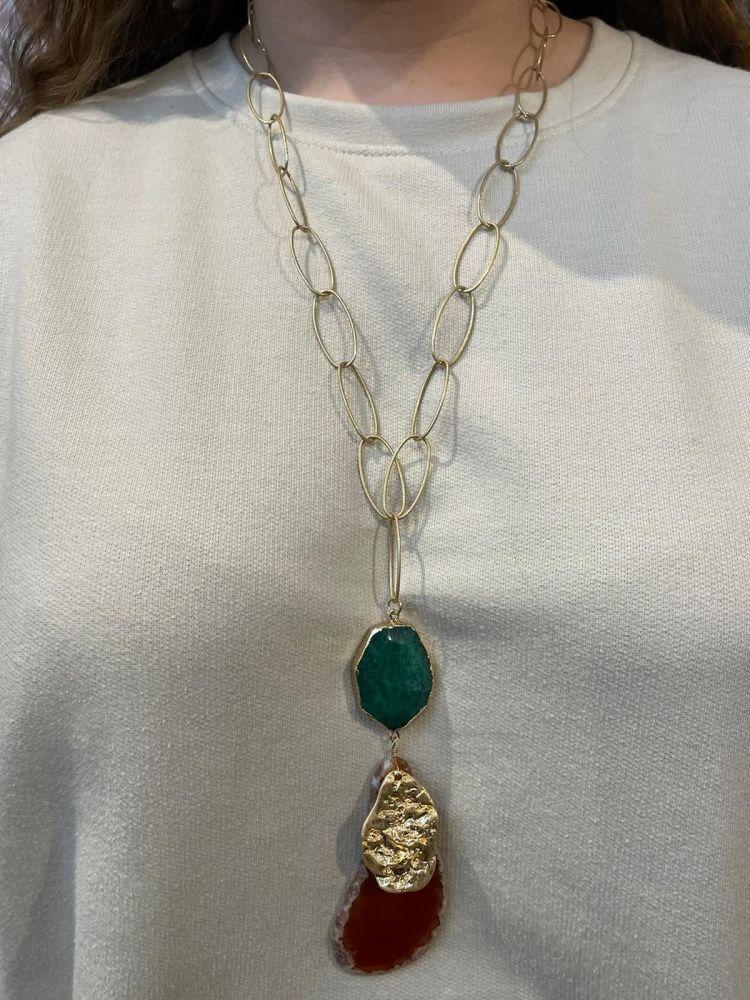 Envy Stones Long Necklace
