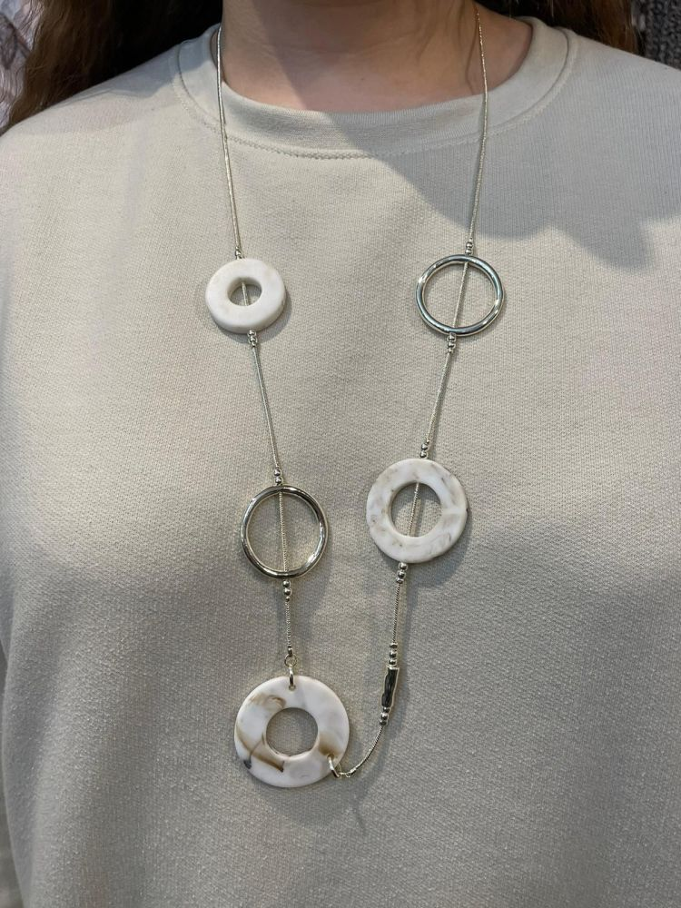 Envy Light Circles Long Necklace