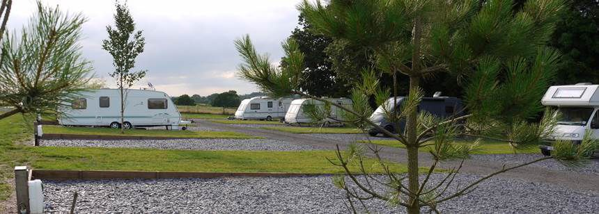 South Facing Pitches at Midshires Way Campsite