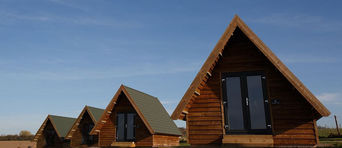 Three glamping lodges