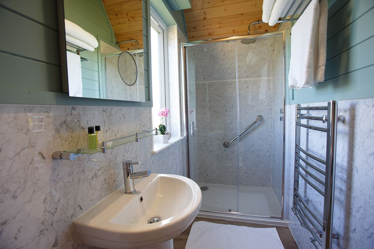 Ensuite at self catering accommodation