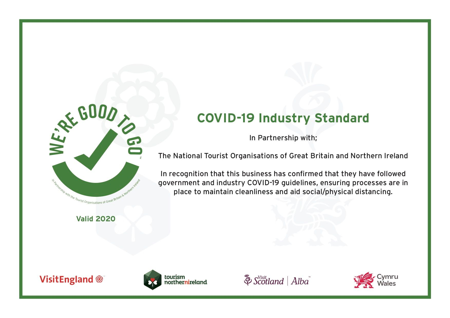 Industry Standard Certificate