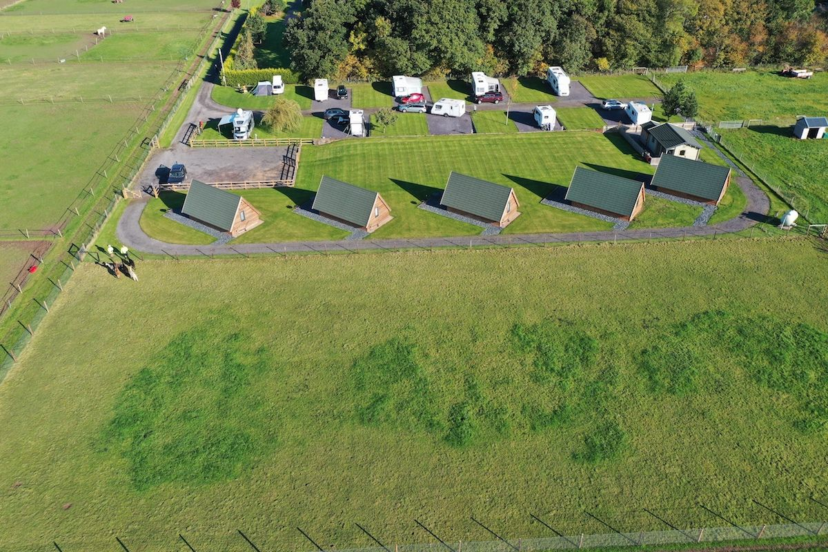 Aerial View of Midshires Campsite