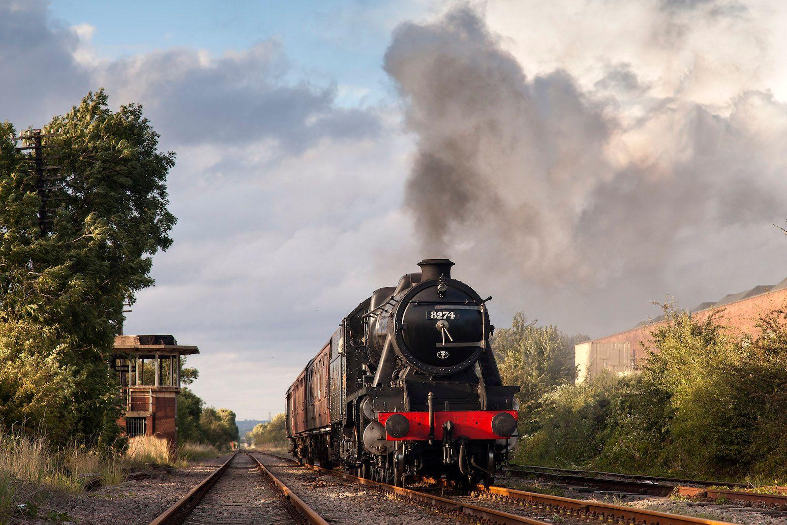 Steam Train near Midshires Way Campsite