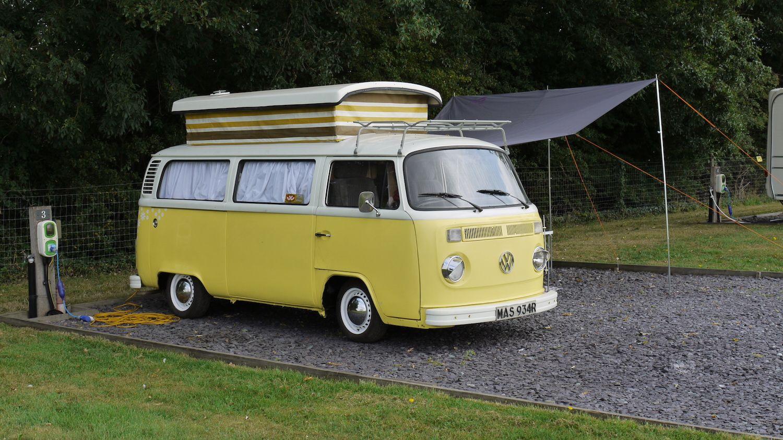VW Campervan at Midshires Campsite