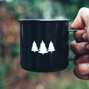 Three Trees Enamel Steel Mug