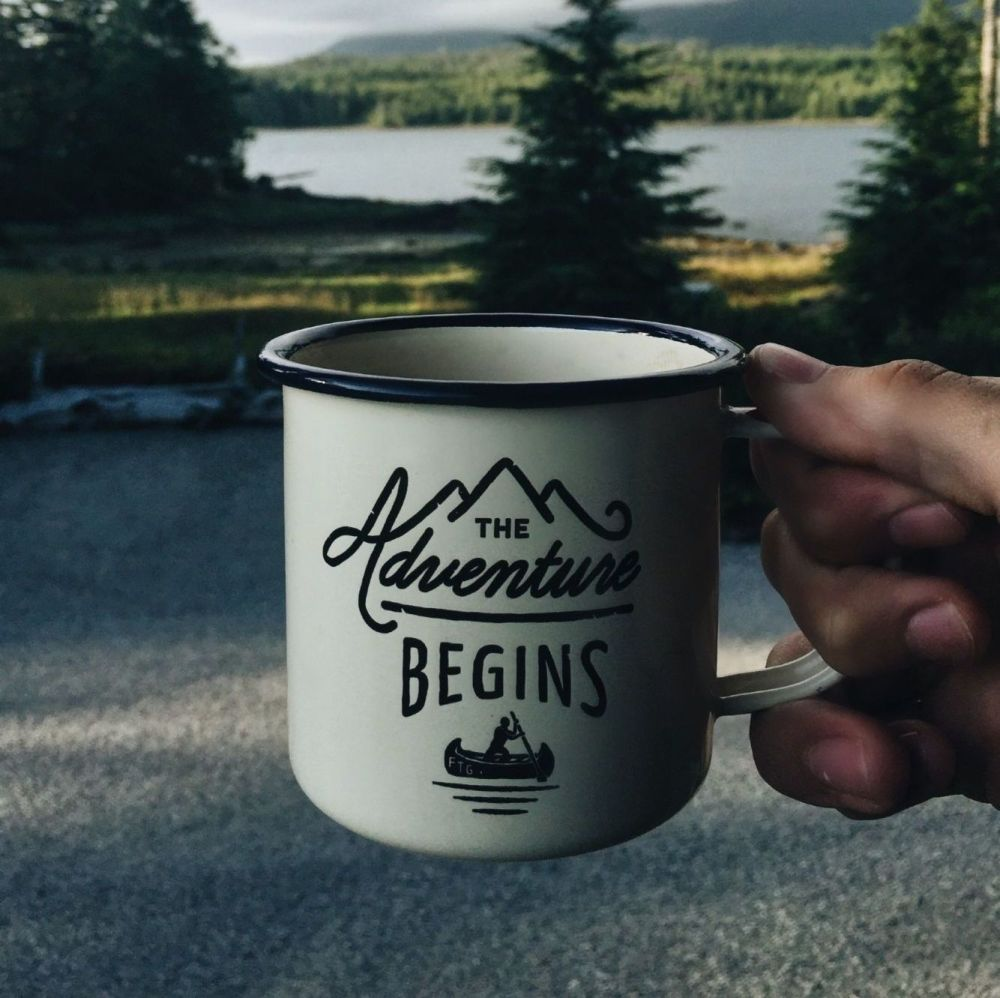 Adventure Enamel Steel Mug