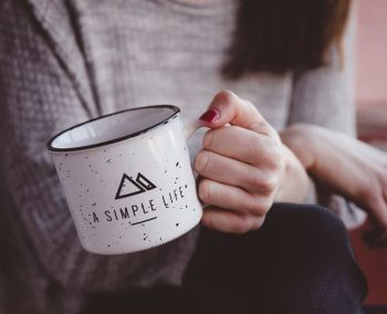 Simple Life Enamel Steel Cup