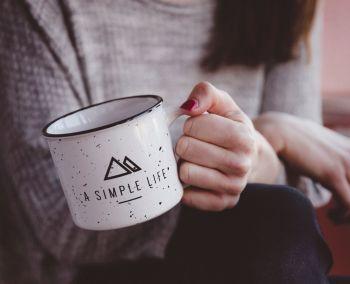 Simple Life Enamel Steel Cup