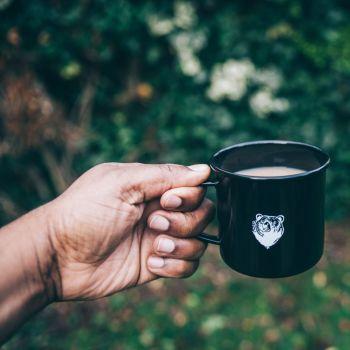 Bear Enamel Steel Cup
