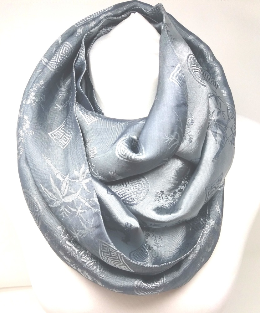 Infinity Jacquard Silver Scarf