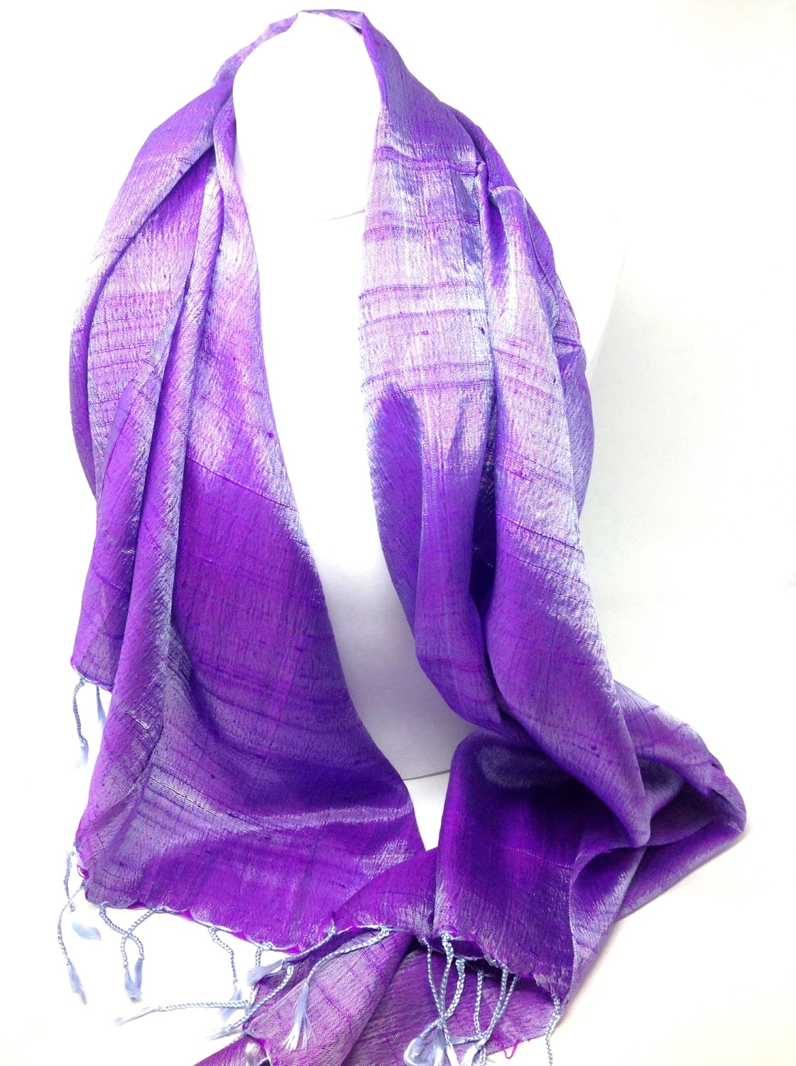 Moave  Shot Silk Blend Scarf