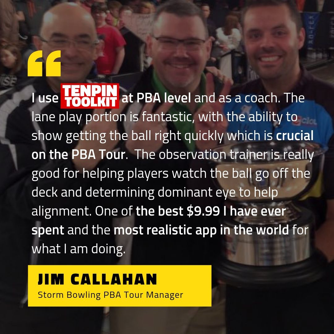 Jim Callahan - Storm Bowling PBA Tour Manager - Pictured with Jason Belmonte and Del Ballard