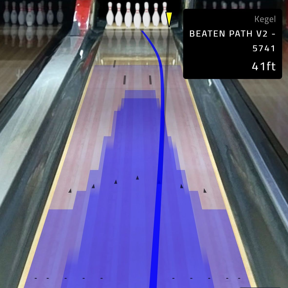 Angles and Targeting 3D bowler's eye view in Tenpin Toolkit