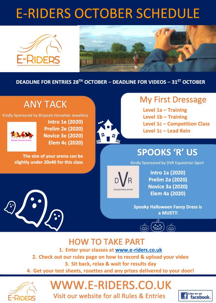 October Schedule 2
