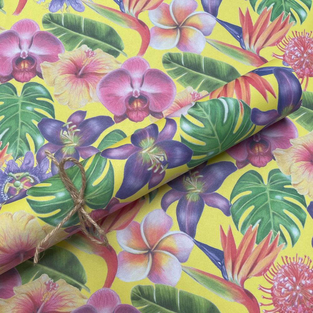 Tropical Flowers Gift Wrap 500mm x 700mm