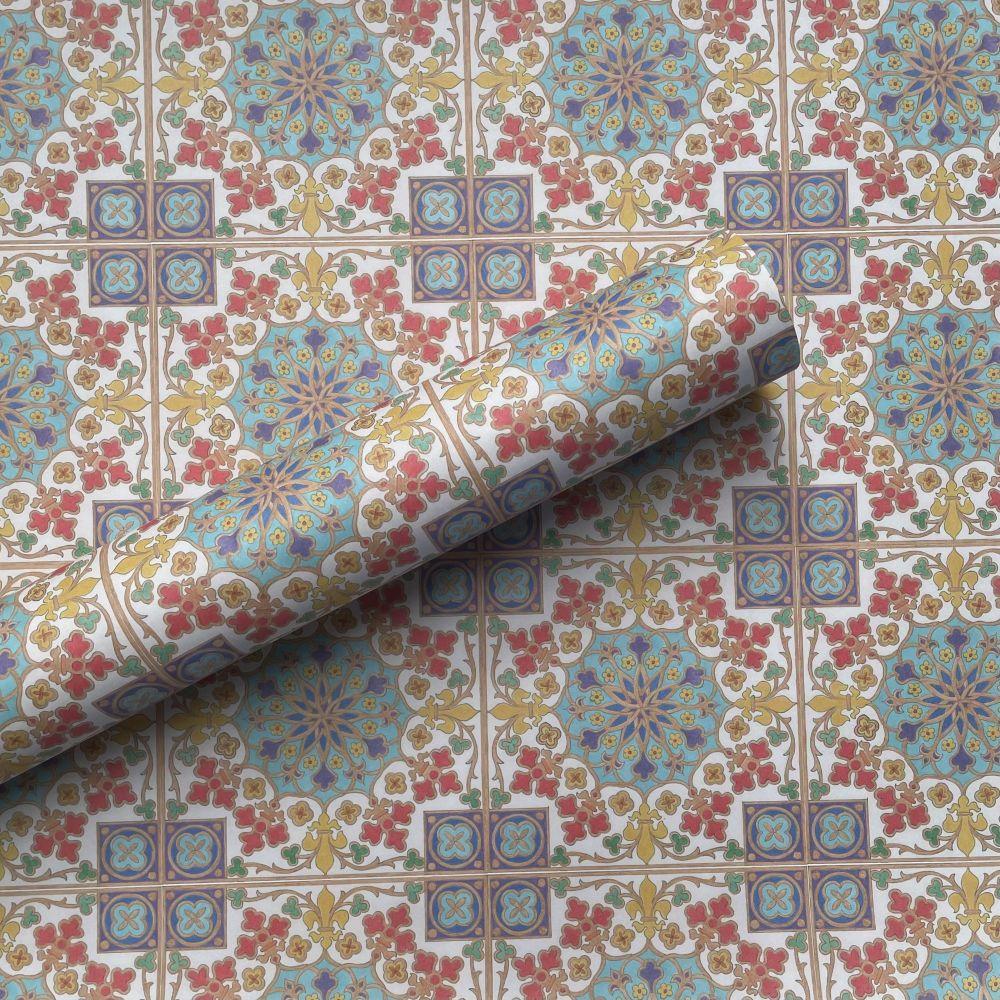 Fleur de Lis Tile Gift Wrap