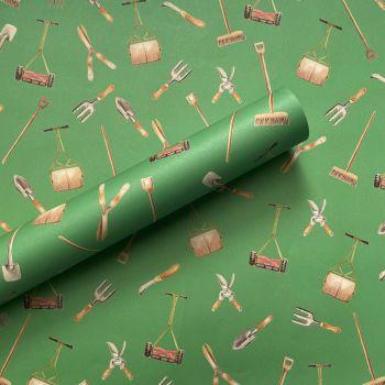 Garden Tools Gift Wrap