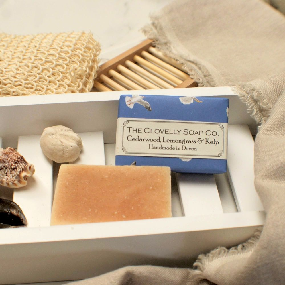 Cedarwood, Lemongrass & Kelp Vegan Soap