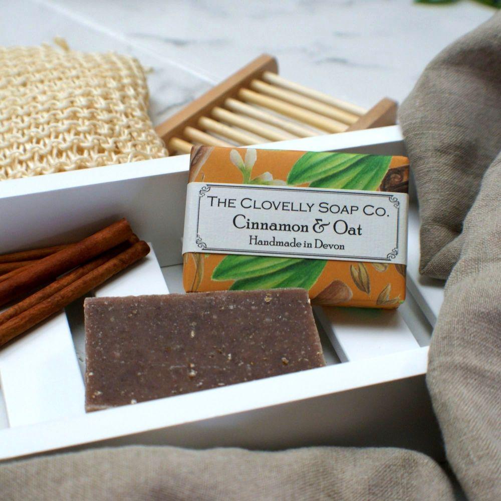 Cinnamon and Oat Handmade Vegan Soap
