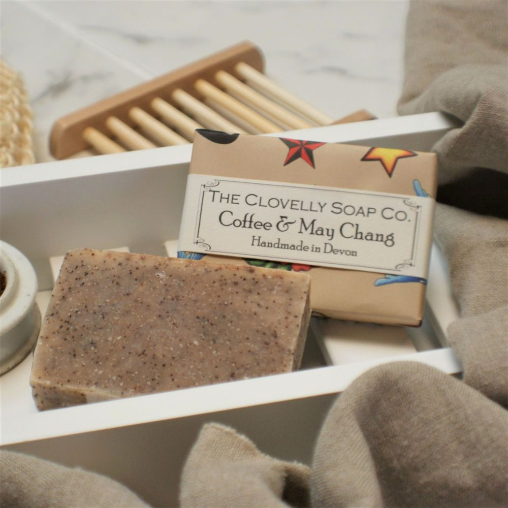 Coffee and May Chang Exfoliating Soap