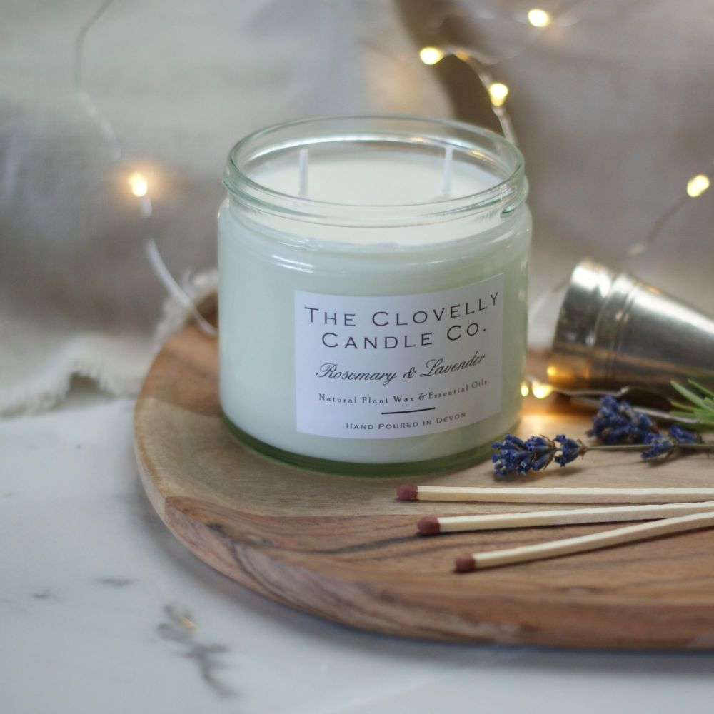 Rosemary and Lavender Calming Aromatherapy Jar Candle