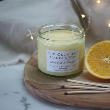 Patchouli and Sweet Orange Aromatherapy Candles