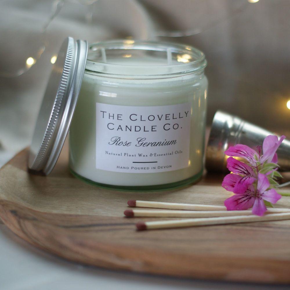 Rose Geranium Aromatherapy Candle