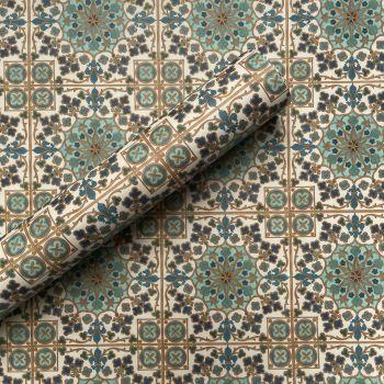 Morrocan Tile Hand Drawn Artwork Gift Wrap