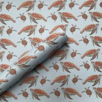 Mother and Baby Turtle Gift Wrap