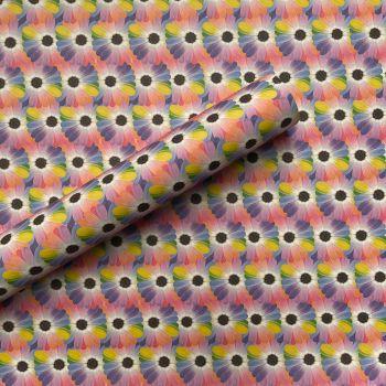 Rainbow Flowers Gift Wrap