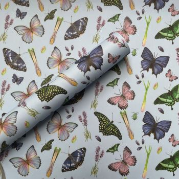 Butterflies and Lavender Gift Wrap