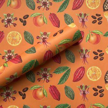 Chocolate Orange Hand Drawn Gift Wrap