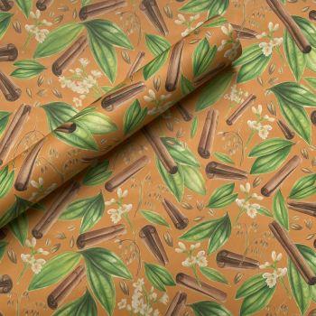 Cinnamon Hand Drawn Botanical Gift Wrap