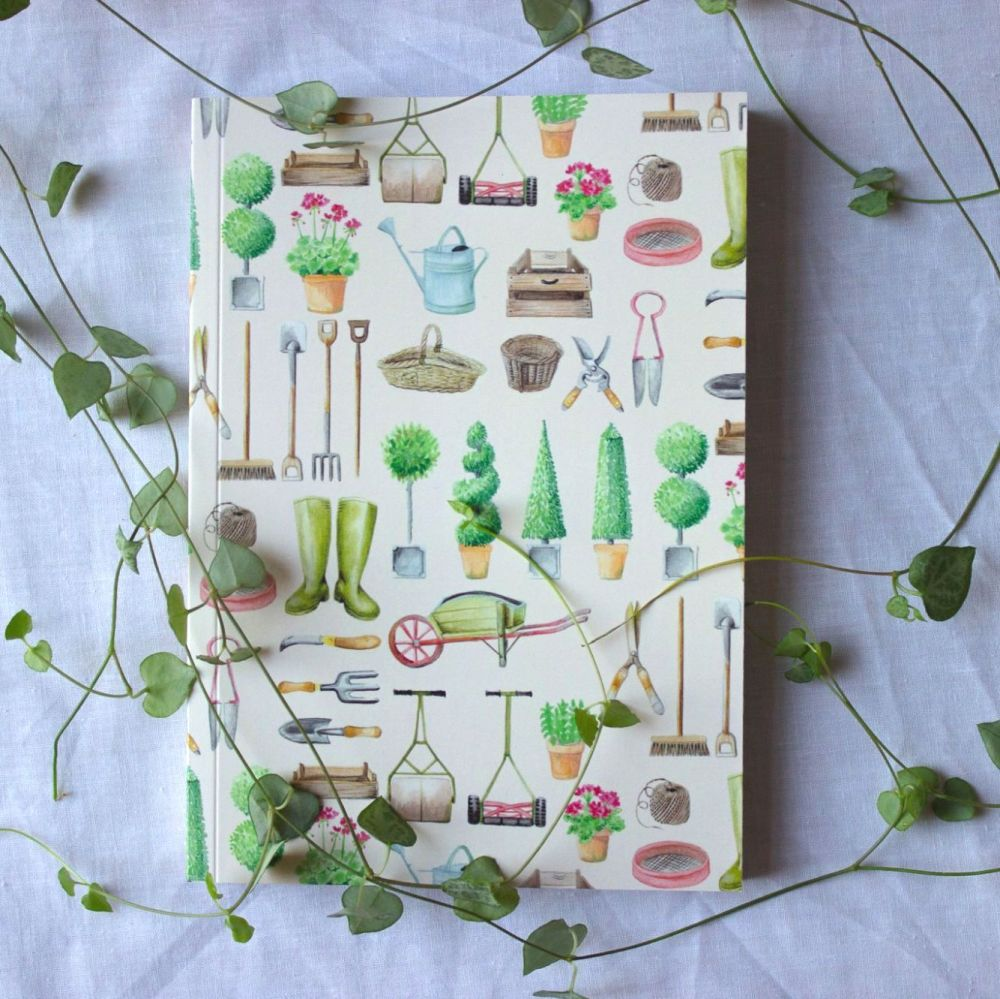 Garden Tools Notebook A5 100 Pages