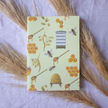 Bees and Hives Notebook  A5 100 Pages