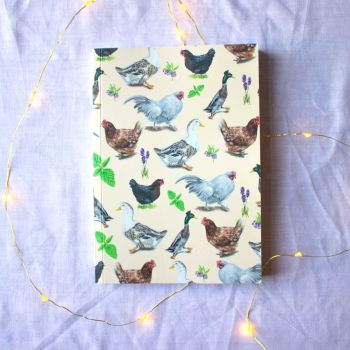 Chooks and Ducks Notebook  A5 100 Pages