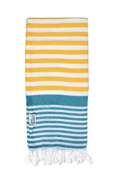 Hammam Towel 100% Cotton Yellow and Blue