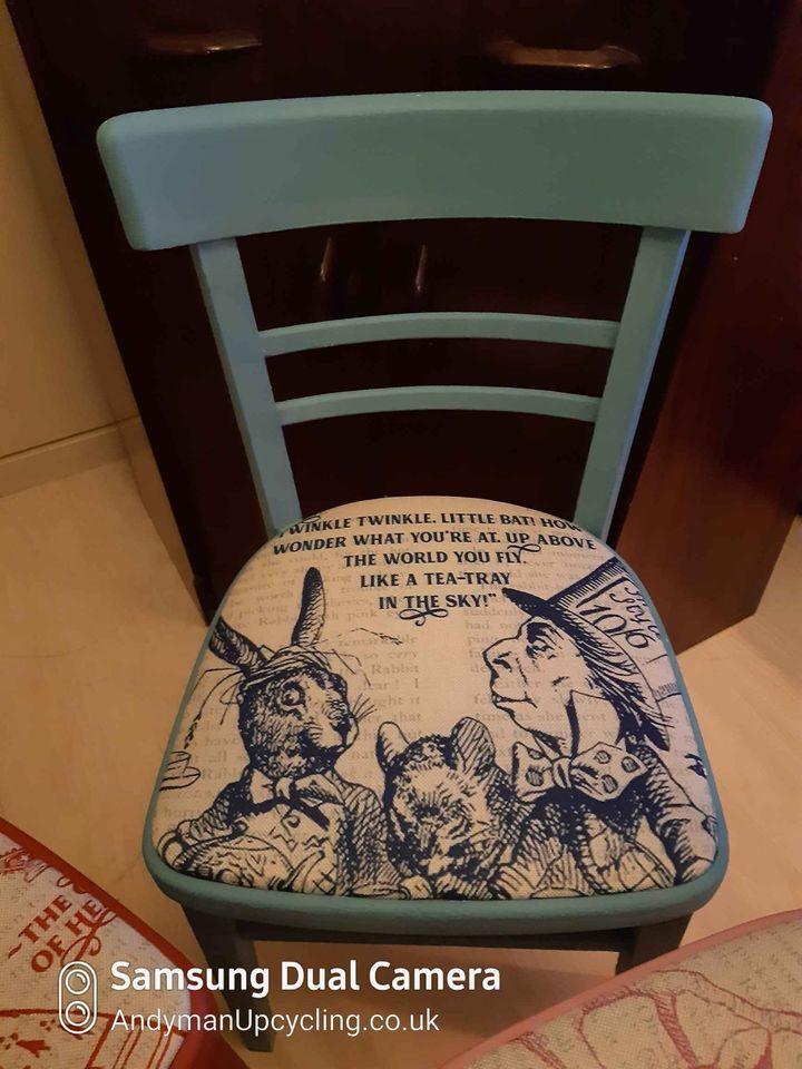 Mad Hatter Blue Chair